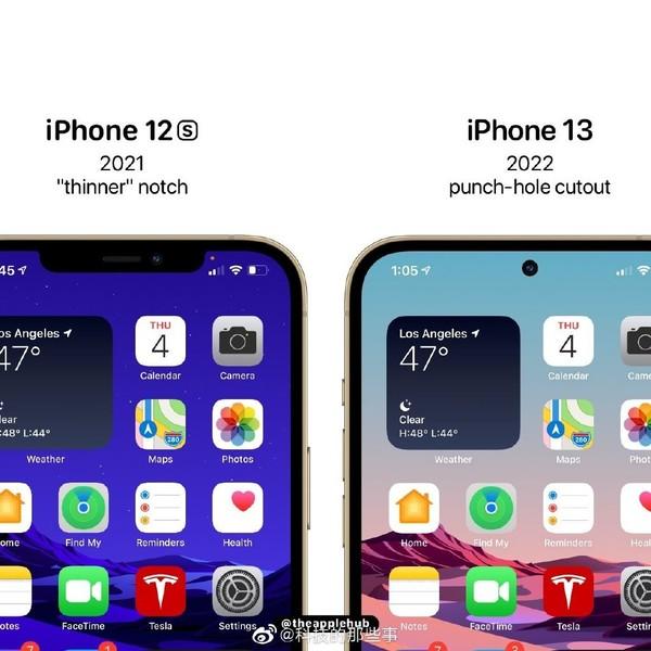 你见过这样设计的iPhone 13/14吗?刘海设计说再见
