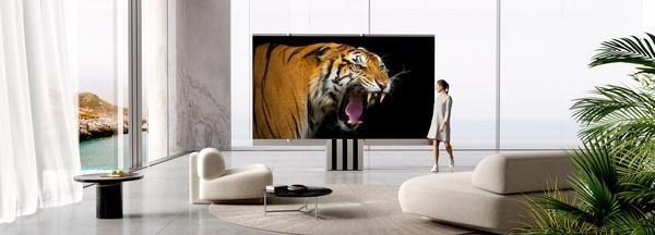 全球首款165寸可折叠电视亮相 售价259万元!