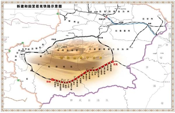 震撼!中国最大的塔克拉玛干沙漠修建了环形和谐铁路